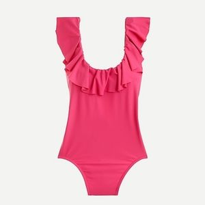 J Crew Ruffle scoopback one-piece swimsuit NWT